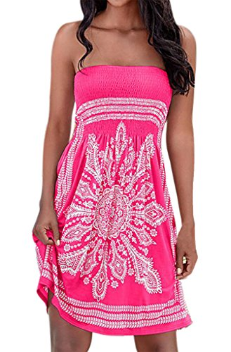 Nergivep Damen Kleid Gr. 38, rosig