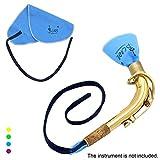 CDELEC 1pc Piccolo Tuch Werkzeug Man-made Chamois Home Klarinettenreinigung Flöte Sax Saxophon Reinigungstuch (blau)