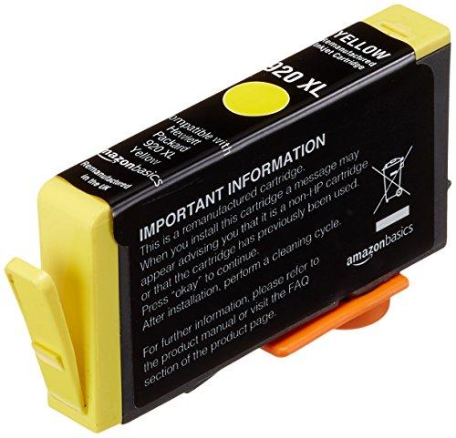AmazonBasics - Wiederaufbereitete Tintenkartusche für HP 920XL, Gelb -