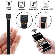 Mini Cámara WiFi, UYIKOO HD 1080P Cámara Espía con Detección de Movimiento P2P Wireless IP