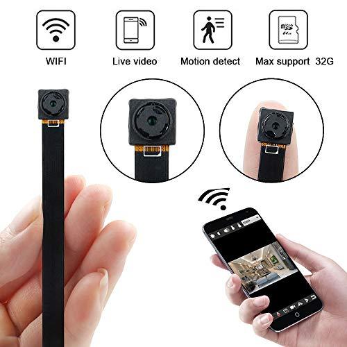 Mini Kamera, UYIKOO 1080P Mini WiFi Kamera Portable Kleine Kamera Wireless P2P Kamera mit Bewegungserkennung/Videoaufnahme Überwachungskamera für Home/Office-Support Android/IOS Remote View (Camera Spy Handy Für)