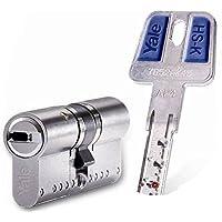 Yale HSK3030 Cilindro de Alta Seguridad, Niquelado, 30 x 30 mm