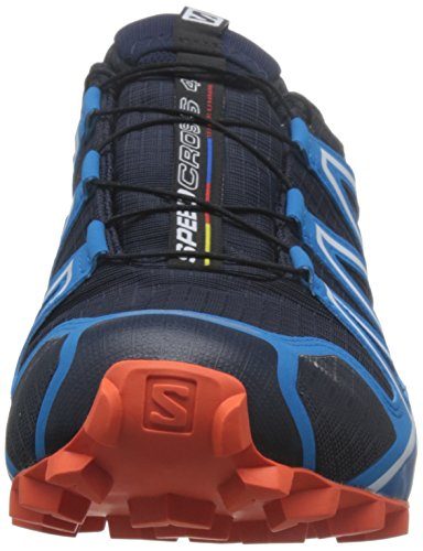 Salomon Speedcross 4 Gtx, Chaussures de Trail Homme, Rouge Bleu (Navy Blazer/cloisonné/flame)