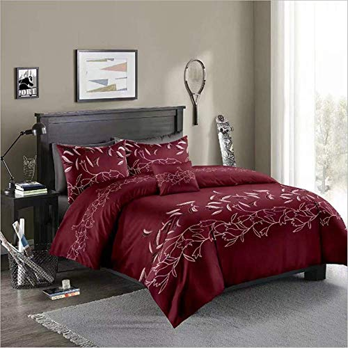 SHJIA König Königin Bettwäsche Set Bett Set Baumwolle Bettwäsche Bed Set D 220x240cm (Baumwolle König Bettwäsche)