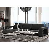 Muebles Bonitos - Sofa de diseño moderno Rosa negro con blanco