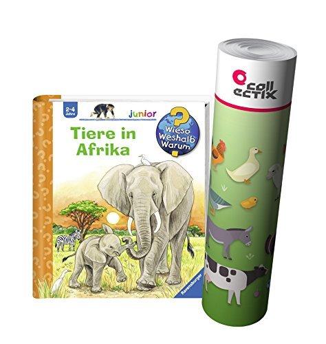 Ravensburger Junior Buch 2-4 Jahre | Tiere in Afrika + Kinder Bauernhof Tiere Poster