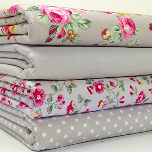 always-knitting-and-sewing-4-piece-fat-quarter-bundle-silver-grey-pink-floral-mix-100-cotton-poplin-