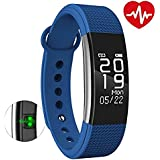 MOVO® Fitband |F1 Smart Fitness Band With Heart Rate Monitor | Sensor | Pedometer | Sleep Monitoring Functions (Blue)