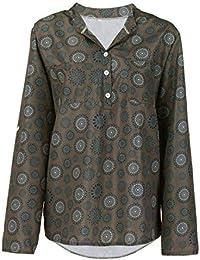 2018 Damen Hemd Mode Sommer Herbst Vintage Frauen Tunika Elegante Drucken  Langarm Tupfen Knopf Bluse Pullover 912806c86f