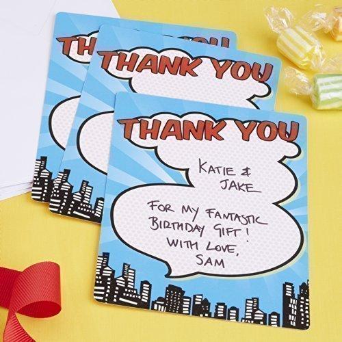 Ginger Ray Superheld Dank-Karten x 10 - Pop Art Geburtstag