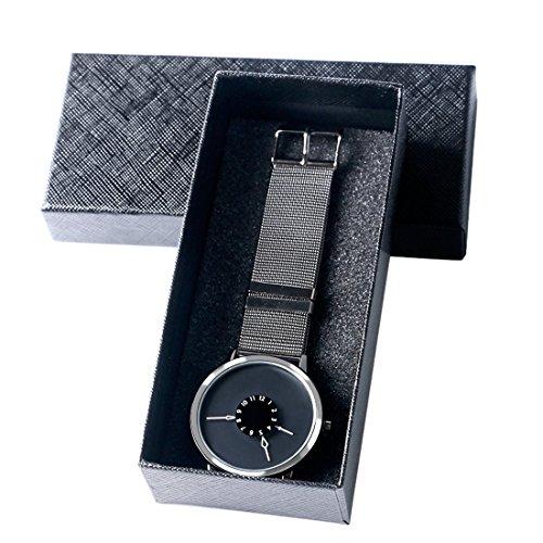 XIGEYA Fashion PAIDU Black Dial Gray Stainless