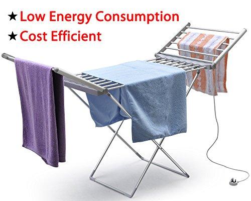 chinkyboo® y-heated tendedero eléctrico secador de ropa 230W