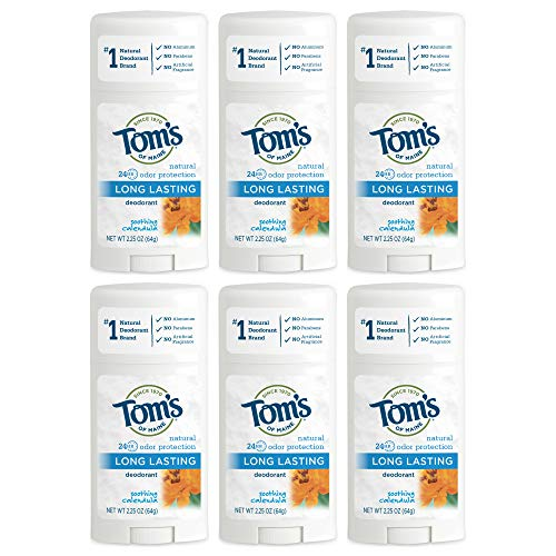 Tom's of Maine Natural Long-Lasting Deodorant Stick Calendula - 2.25 oz - Case of 6 - HSG-320549 by Tom's of Maine