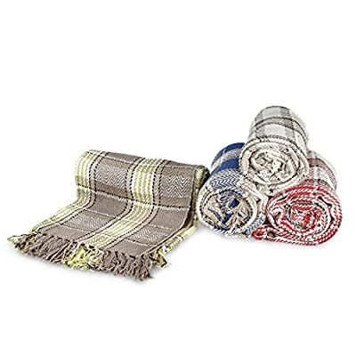 100% Cotton Highland Tartan Check Sofa / Bed Throw 4 Colours & 5 Sizes produced by StyleMyBedroom - quick delivery from UK.