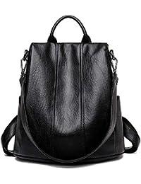 Bolso de cuero elegante de la mochila ocasional del totalizador antirrobo bolso elegante del hombro de