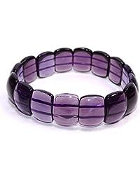 Sahiba Gems Hydro Purple Amethyst Very Beautiful Bracelet Stone Beads For Reiki Healing Crystal Healing Chakra...