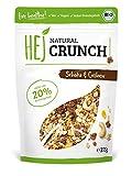 HEJ Natural Crunch Schoko & Cashew – Protein Müsli – Bio Müsli – Veganes Fitness Müsli – Ohne zugesetzten Zucker – Ballaststoffreich – 1er Pack (1 x 375 g)