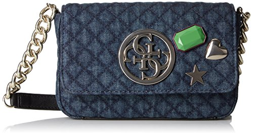 GUESS G Lux Petite Crossbody Flap, Denim