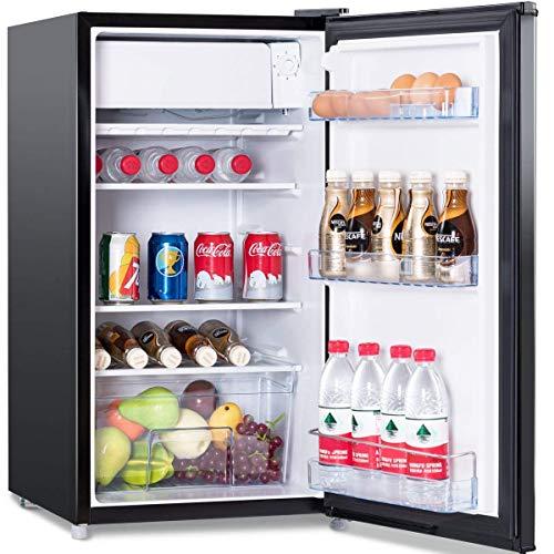 COSTWAY Réfrigérateur Congélateur 91 Liters Mini-frigo Classe Energétique A+ Economies d'Energie 49 x 45 x 84 cm Noir