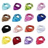 Damen Bandana OL Satin Frauen professionelle Schal reine Farbe 57cmx57cm