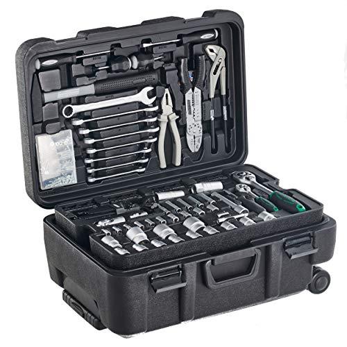 Mannesmann - M29070 - Maletín de herramientas móvil, 122 piezas