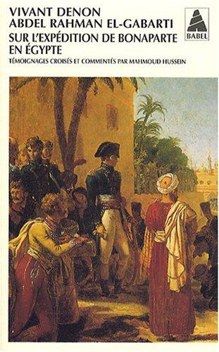 Sur l'expédition de Bonaparte en Egypte