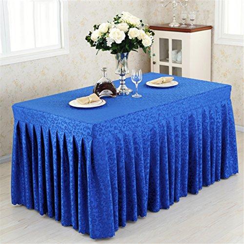 LCYCN Hotel Shirred Pleat Table Rock - Polyester-Tuch Easy Attachment-Cold Esstisch Röcke Für Küche Und Feierlichkeiten Catering Hochzeit Geburtstag Party Dekorationen,Blue,40*120*75Cm