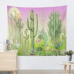 mmzki Moda de Europa y los Estados Unidos tapicería en Caliente Colgar en la Pared tapicería tapicería Decorativa Cactus Tapiz Toalla de Playa cojín R005-J 200 * 150 cm
