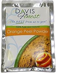 Davis Finest Orange Peel Powder - 100% Pure and Natural Fruit Powder Enriched with Vitamin C - Natural Astringent – Facial Mask - Unclog Pores