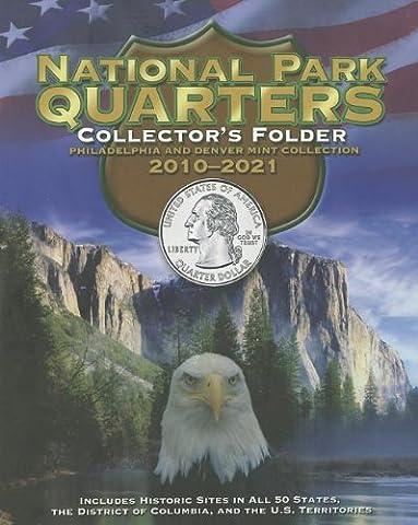 National Park Quarters Collector's Folder: Philadelphia and Denver Mint Collection 2010-2021