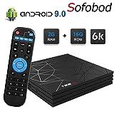 Sofobod T95max TV Box Android 9.0 2GB RAM 16GB ROM, H6 Quadcore Cortex-A53 H.265 Decoding, HD 6K 3D USB3.0 WiFi 2.4G TV Box