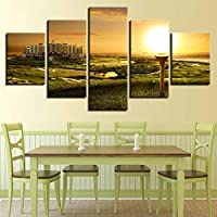 OLAJSDD Wall art poster modern home decor living room bedroom 5 pieces canvas printed Modular painting