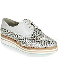 Dorking - Zapatos de Cordones para Mujer Plateado