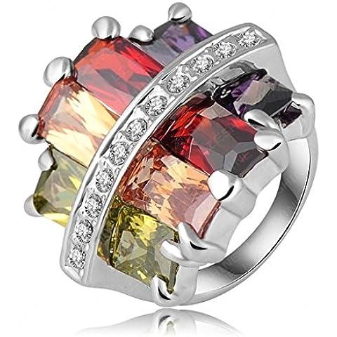 Alimab Gioielli signore anelli di fidanzamento anelli di nozze Donne anelli fedi donna oro anelli in oro