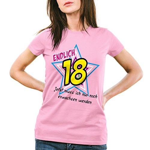 style3 Endlich 18 Damen T-Shirt Jetzt muss ich nur noch erwachsen werden!  Girlie
