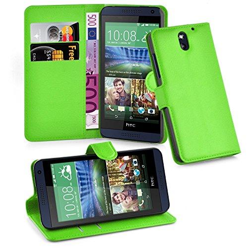 Preisvergleich Produktbild Cadorabo Hülle für HTC Desire 610 - Hülle in MINZ GRÜN – Handyhülle mit Kartenfach und Standfunktion - Case Cover Schutzhülle Etui Tasche Book Klapp Style