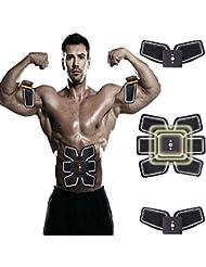 Silaitehealth abdominale formateur muscle stimulateur Muscle toner tonifiant ceintures AB formateur taille formateur ceinture taille-bordure EMS équipement d'entraînement, Smart Home Fitness appareil support unisexe pour hommes et femmes