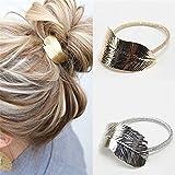 Daedalus, 2Damen-Haarbänder, Blatt-Design, elastischer Pferdeschwanz-Halter
