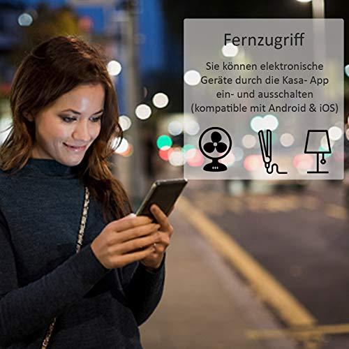 TP-Link HS100(EU) intelligente WLAN Steckdose (funktioniert mit Amazon Alexa [Echo, Echo Dot], mit App Steuerung überall und zu jeder Zeit) - 5