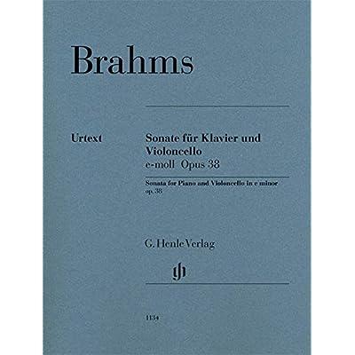 Sonate Opus 38 en mi mineur --- Violoncelle et Piano