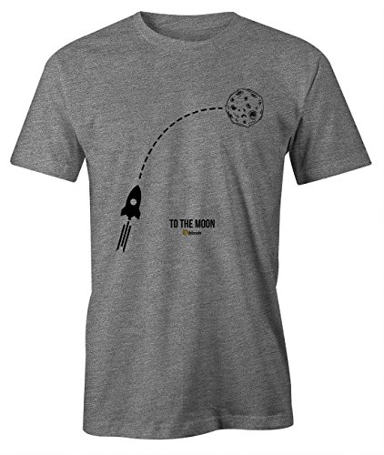 RiotBunny to The Moon Crypto Trader Miner Bitcoin Cryptocurrency BTC LTC Digital Currency T-Shirt Herren Grau Medium