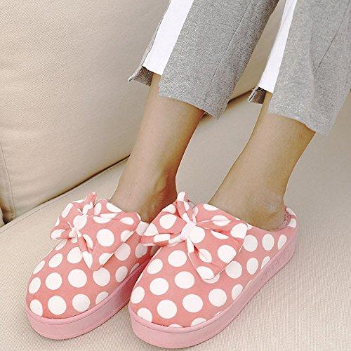 DogHaccd pantofole,Inverno e personalità elegante impermeabile ad alta Taiwan tacco alto pantofole femmina cotone spessa non slip inverno caldo carino Violetta3