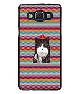 PrintDhaba Kitty D-3310 Back Case Cover for SAMSUNG GALAXY E5 (Multi-Coloured)