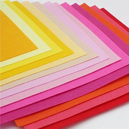 Bastelfilz ROSENICE Kinder DIY Filzstoff Bunt 40 Farben 15 x 15 cm
