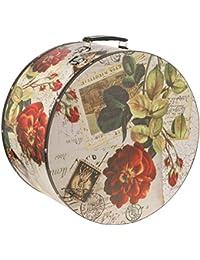 Lierys Hutkoffer Rose 38 cm Hutbox Hutschachtel Aufbewahrung Hutzubehör für Damen Hutschachtel Winter Sommer