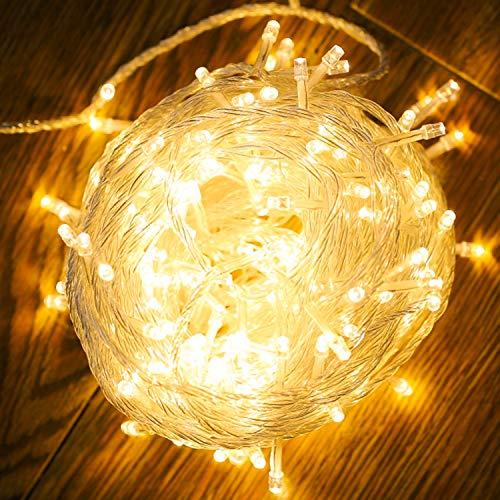 VINGO 20M 200 LED Lichterkette, Innen und Außen, 8 Modi, IP44 Wasserdicht, Warmweiß, ideal für Weihnachten, Party, Hochzeit, Festlich, Zimmer, Baum, Garten