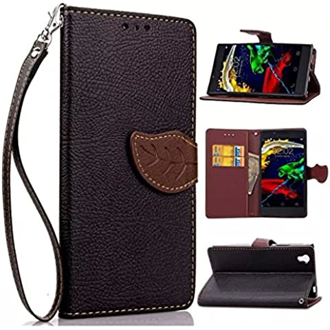 Nutbro [Lenovo P70] Lenovo P70T Case,Lenovo P70 Wallet Case - Ultra Slim, Light Case Vintage PU Leather - Credit Card ID Holder - Strong Magnet - Travel Wallet - Luxury Protection for Lenovo P70