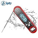 Meidi Nourriture Thermomètre étanche Digital de cuisine cuisson Thermomètre à viande (rouge)