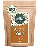 Bio Zimt Ceylon // Ceylon-Zimt gemahlen (Bio, 250g) I 100% Bio-Qualität I Großpackung im wiederverschließbaren Aroma-Frischebeutel I Zimtpulver abgefüllt und kontrolliert in Deutschland (DE-ÖKO-005)