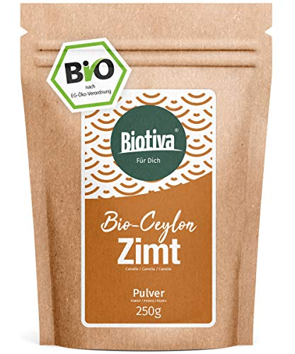 Bio Zimt Ceylon // Ceylon-Zimt gemahlen (Bio, 250g) I 100% Bio-Qualität I Großpackung im wiederverschließbaren Aroma-Frischebeutel I Zimtpulver abgefüllt und kontrolliert in Deutschland (DE-ÖKO-005) - Zimt-rinde-baum
